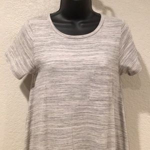 LulaRoe Carly Heathered Gray Dress XXS